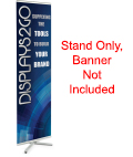 Silver Portable Banner Stand