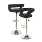 Pneumatic Bar Stool Made of Faux Leather