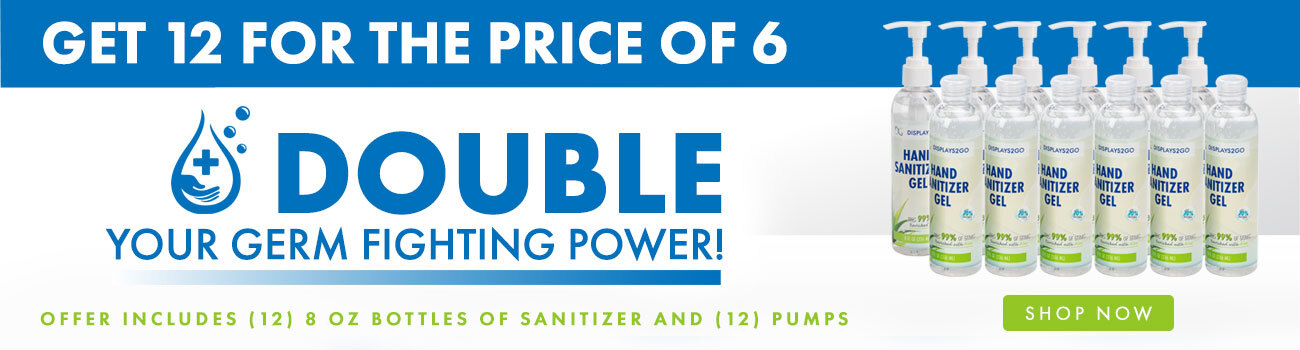 Get 12 8 oz Bottles of Hand Sanitizer and 12 Pumps for The Price of 6!