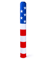 60-inch tall american flag decorative bollard sleeve