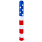 "60"" tall stretch polyester american flag decorative bollard sleeve"