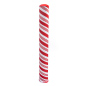 "60"" tall printed polyester candy cane bollard cover"