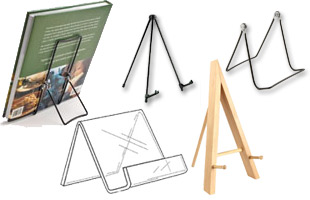 Tabletop Book Easels