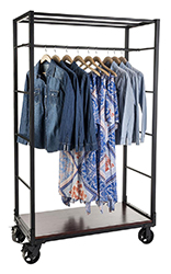 Boutique clothing display rack