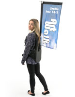 Backpack Banner for Marketing and Advertising