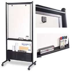 Wheeled Dry Erase Boards Compact Nesting Design