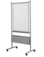 Expanding Porcelain Whiteboard with Locking Casters