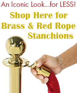 Brass & Red Rope Stanchions