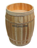 Custom Retail Display Barrel with Oak Staves
