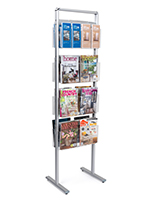 Aluminum double-sided brochure stand