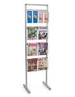 22.5 inch x 64 inch brochure and magazine display rack