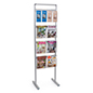 Silver Brochure and magazine display rack