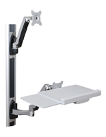 Wall Mounted Sit Stand Desk for Right or Left Handed Users
