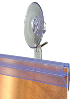 Window banner hangers with suction cups