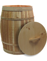 Covered Cedar Barrel