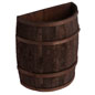 Stained Half Barrel for Country Stores