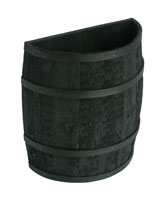 Rustic Green Barrel Display