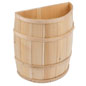 Decorative Storage Barrel with Flat Back
