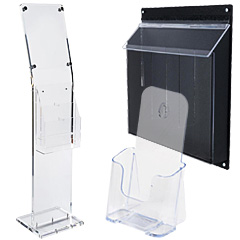 Brochure Holders in Plastic or Acrylic