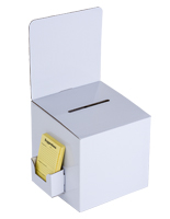 White Cardboard Entry Box with Side Pocket
