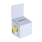 White Cardboard Entry Box with Removable Header
