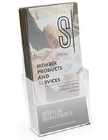 Clear Plastic Brochure Holder