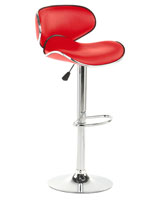 Red Bar Stool with Hydraulic Lift