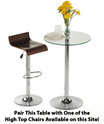 Glass High Top Table For Modern Dining