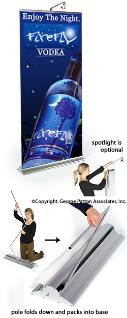 retractable banner stand instructions