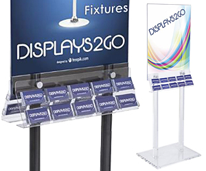 Business Card Holders on Poster Stands