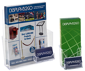 Business Card Holders with Brochure Pockets