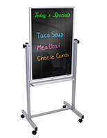 double sided mobile black boards