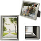 Small Silver Picture Frame for Wall-Mount or Tabletop Use