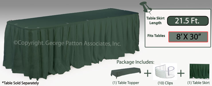 green table cloth