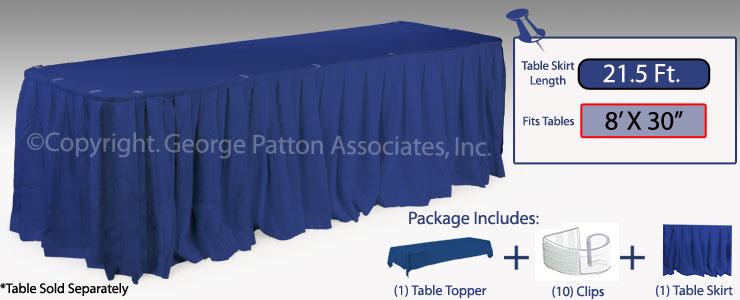 Cheap Table Cloth | 8 Foot Table Display - Royal Blue