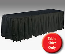 linen table skirt