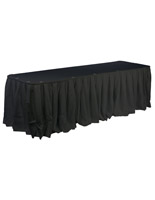 black table linens