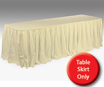 wedding table skirts