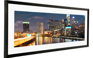 panoramic frame with narrow mat
