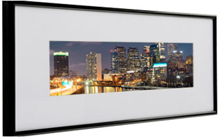 panoramic frame with wide mat