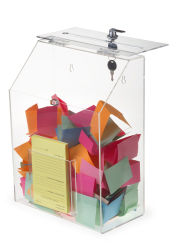 Locking acrylic donation boxes