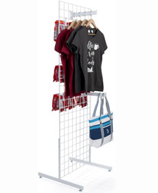 Floor standing gridwall display fixtures