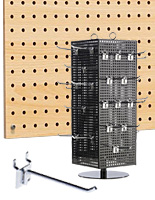Pegboard Displays- Floor Stands, Gondolas & Hooks