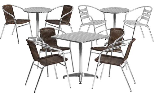 indoor outdoor cafe table and chair sets
