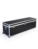 Oversize trade show storage trunk with hard exterior