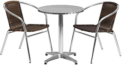 Café table sets  sc 1 st  Displays2go & Café Table Sets | Indoor/Outdoor Bistro Furniture