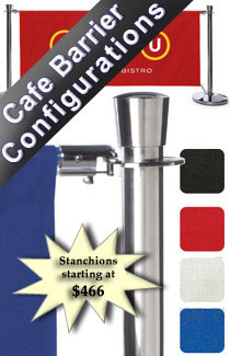 Stanchions and Cafe Banners
