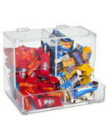 These candy bins are commonly seen in supermarkets and food establishments.