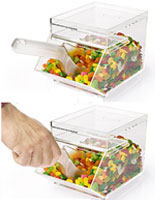 Use these candy bins to offer bulk candies in a store, theater or restaurant.