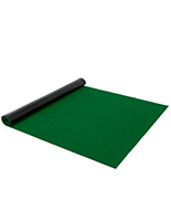 Bright green 10' roll carpet runner